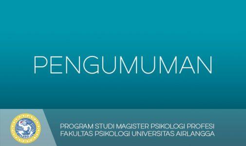 Persyaratan pengajuan Ujian Eksternal (HIMPSI) Magister Psikologi Profesi